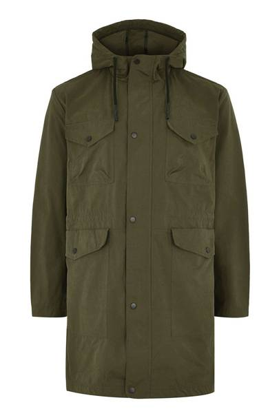 Parka coat by Topman