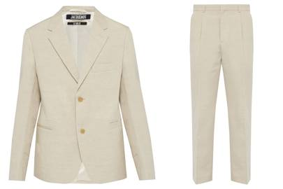 Single-breasted linen-blend suit by Jacquemus