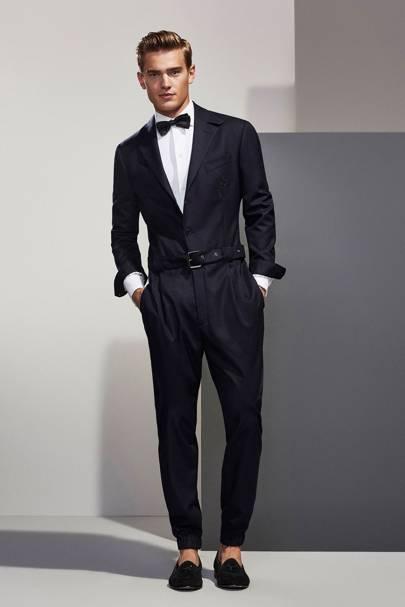 Massimo Dutti black tie jumpsuit