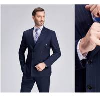 Made to measure Italian wool pinstripe suit by The Hammersmith