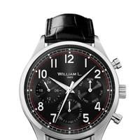 William L 1985 'Vintage Style Calendar' watch
