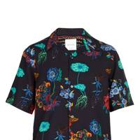 Psychedelic-print camp-collar shirt by Paul Smith