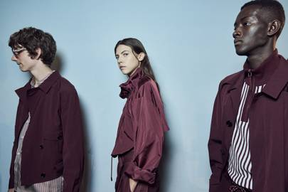 6. Burgundy with putty is next season's hottest colour combo