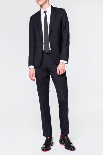Navy notch lapel suit