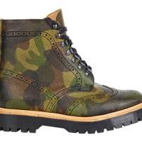 ASOS 'Made in England' camo brogue boots