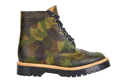 ASOS 'Made in England' camo brogue boots