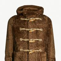 Horsham shearling teddy duffle coat by Burberry