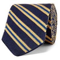 6cm Striped knitted tie by Etro