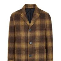 Checked coat by Ami
