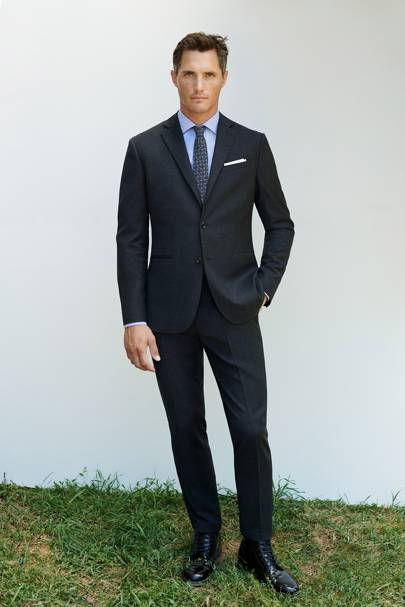 Single-breasted, notch-lapel suit