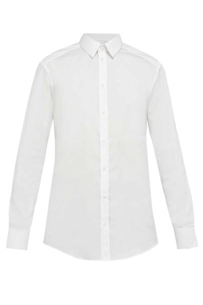 Gold Fit cotton-blend stretch shirt by Dolce & Gabbana