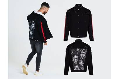 Distressed oversized denim jacket by Beauxnarrow