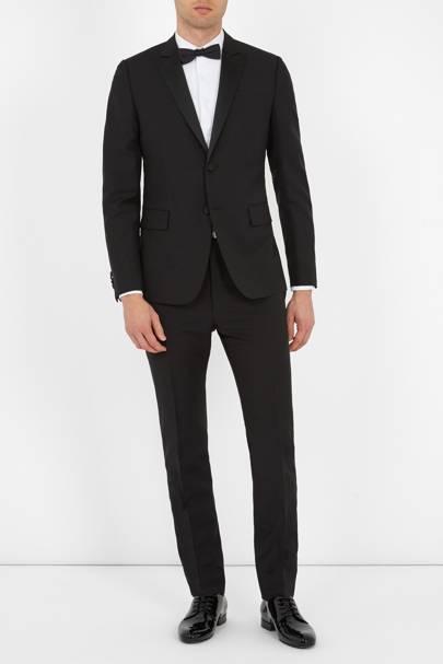 Slim-fit black tuxedo by Valentino