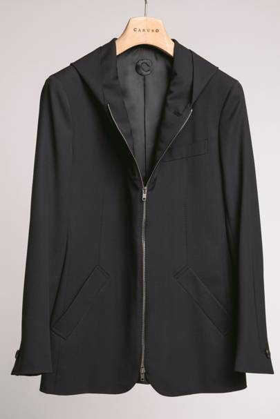 Hooded blazer by Caruso