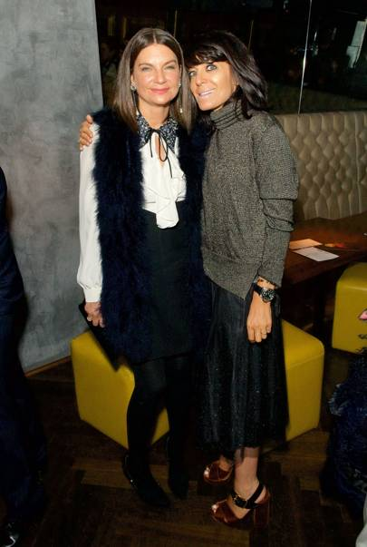Natalie Massenet and Claudia Winkleman
