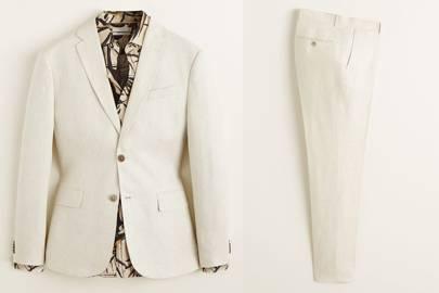 Slim-fit linen suit by Mango