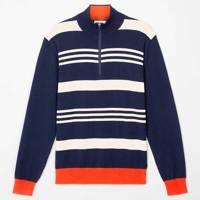 Wolsey navy macro stripe