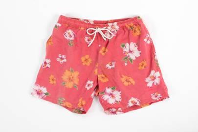 Floral linen beach shorts by Velocita