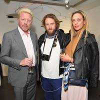 Boris-Becker, Greg Williams and Lilly Becker