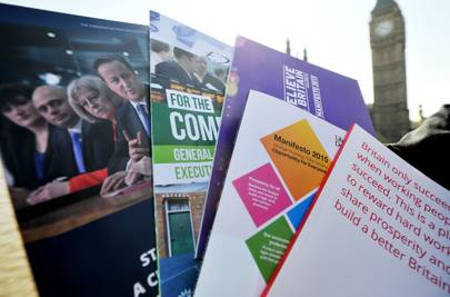 The political party manifesto covers from 2015