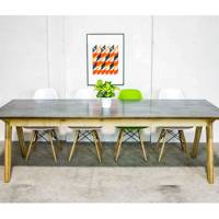 Synk table with Zinc top from RIGG