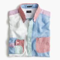 J Crew linen cocktail shirt