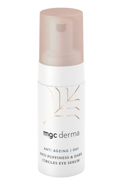 Best for tired eyes - CBD anti-puffiness and dark circles eye serum by MGC Derma