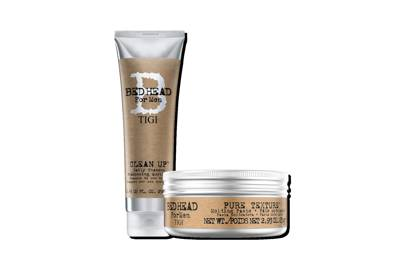 Pure Texture Molding Paste and Clean Up Daily Shampoo by Tigi Bed Head For Men