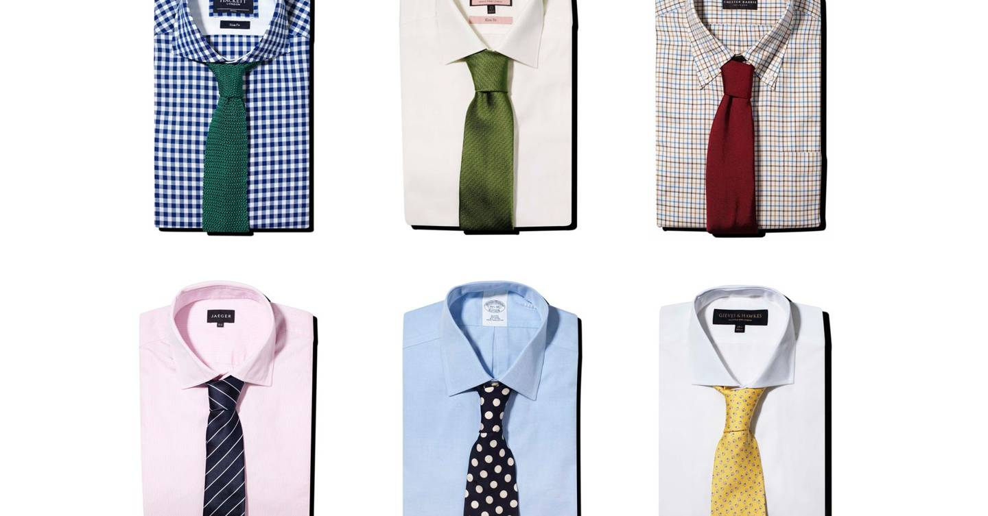 Mens Suit Shirt And Tie Combinations