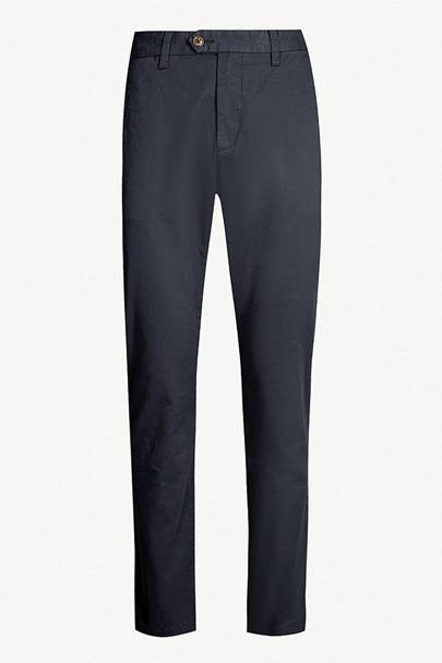 Slim-fit stretch-cotton chinos by Ted Baker
