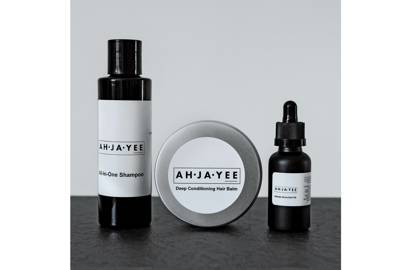 All-In-One Shampoo, Deep Conditioning Hair Balm and Grow-Out Oil by Ahjayee