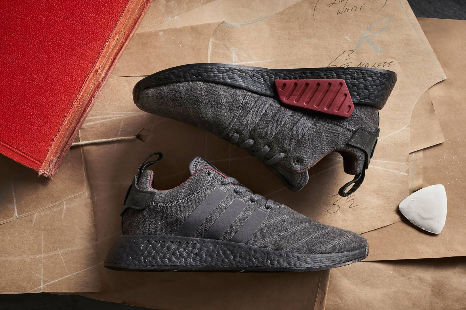 d697693f59f67 Adidas Originals x Henry Poole  Trainers with the Savile Row treatment