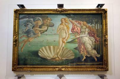 Birth of Venus. Circa 1485, tempera on canvas