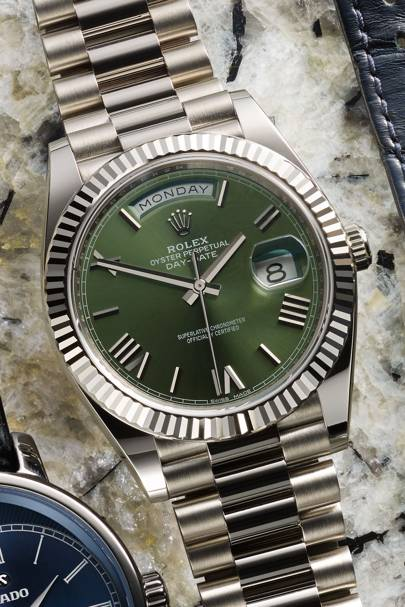 Day-Date 40 in white gold by Rolex