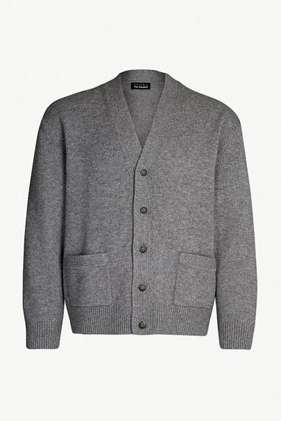 V-neck wool and cashmere-blend cardigan by The Kooples