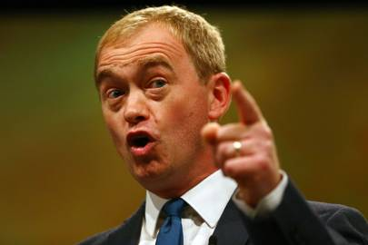 The Liberal Democrat leader Tim Farron