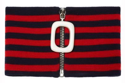 Striped merino-wool neckband by JW Anderson