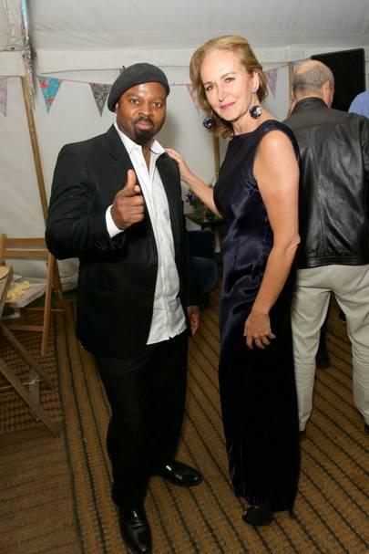 Ben Okri and Caroline Michel