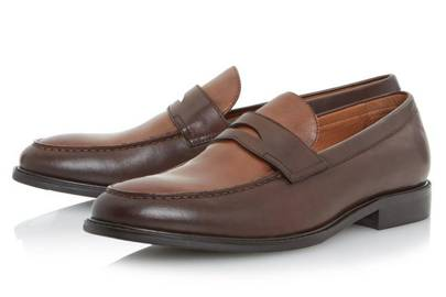 Dune London two-tone loafers