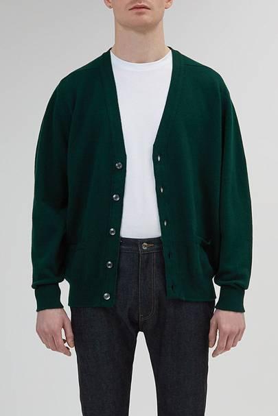 Community Clothing crewneck lambswool cardigan