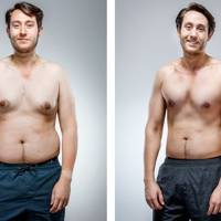 Nick Carvell, before and after