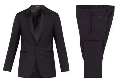 Peak lapel wool-blend tuxedo by Lanvin