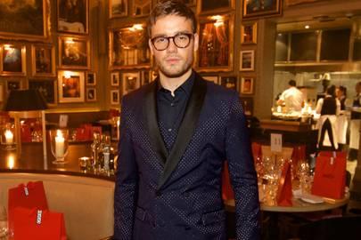 Liam Payne on his bespoke navy Hugo suit