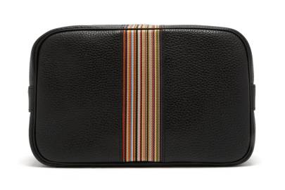 Paul Smith Signature Stripe Grained-Leather Wash Bag