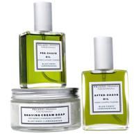 The Blue Tansy Lemongrass Wet Shaving Kit by Peluzzi Organica