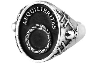 AEQUILIBRITAS RING by REMAINS JEWELRY