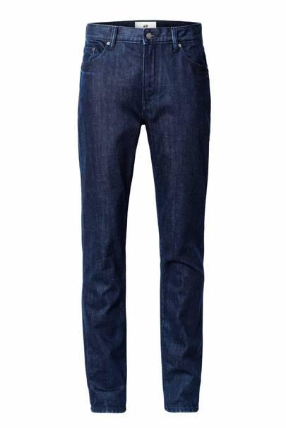 David Beckham H&M Modern Essentials indigo jeans