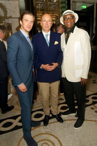 Dan Stevens, Dylan Jones and Samuel L Jackson