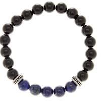"""Lapis & Onyx """"Harmony & Strength"""" Bracelet by Stephen Oliver Jewelery"""