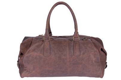 Leather Duffle Pampa Vintage Choco by Roque Bags